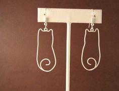 Kitty Wire Earrings. $8,00, via Etsy.