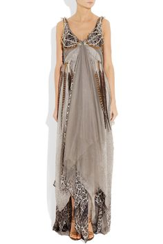 Haute Hippie - #HauteHippie Dreamcatcher gown complete with dangling feathers.  I must have this. $3295