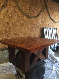 Barn door table diy furniture plans 45 ideas for 2019 Woodworking Table Saw, Woodworking Furniture Plans, Diy Woodworking, Diy Table, Wood Table, Diy Coffee Table Plans, Coffee Tables, Home Design, Barn Door Tables