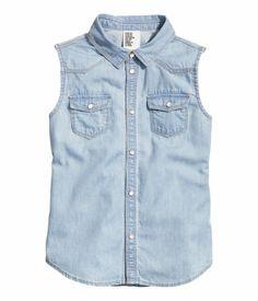 H&M Sleeveless Denim Shirt $14.95