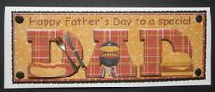 Burgers and buns DAD Father s Day large DL on Craftsuprint designed by Amanda McGee - made by Davina Rundle - I printed on to paper. Mounted the topper on to black card, then on to an ivory pearl card. Layered. Added card candi and a knife and fork to embellish. A great fun design for Dad for Father's Day. - Now available for download!