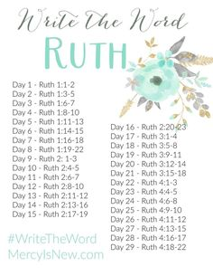 Love these Scripture writing guides. Write the Word: Ruth- His Mercy is New