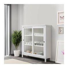 HEMNES Vitrineskap - hvit beis - IKEA