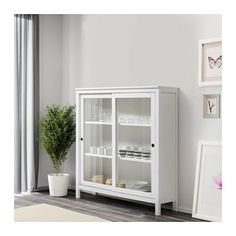 HEMNES Vitrina - tinte blanco - IKEA