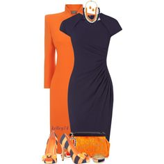 Orange & Navy, created by kelley74 on Polyvore