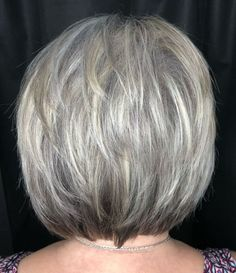 Feathered Style with White Highlights hair styles for women 60 Gorgeous Gray Hair Styles Grey Hair Styles For Women, Short Hair Cuts For Women, Medium Hair Styles, Natural Hair Styles, Short Hair Styles, Hair Medium, Gray Hair Women, Short Shag Hairstyles, Feathered Hairstyles