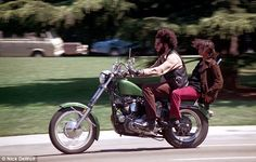 Early 70s. Taking a motorbike ride through downtown San Francisco sporting some head-turning flares