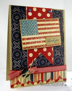 By Kendra Wietstock.  Stamps ~ Gourmet Rubber Stamps (Happy Independence)