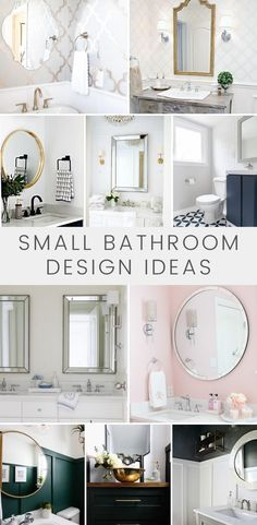 Just because a bathroom is small doesn't mean it can't have beautiful design elements and feel like a relaxing retreat. Here are tensmall bathroom design ideas that will provide creative ways to introduce new trends, color, and pattern whether your style is farmhouse, modern, or transitional. Home Decor Websites, Home Decor Items, Home Decor Accessories, Cheap Home Decor, Romantic Home Decor, Romantic Homes, Remodeling Mobile Homes, Home Remodeling, Diy Halloween