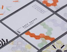 Katy Shand Embroidery Business cards - Dean Pannifer. Letterpress with bespoke limited designs.