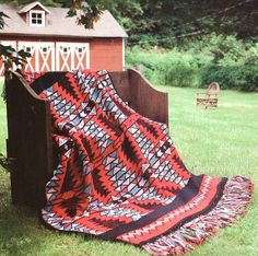 Free Native American Crochet Patterns | Native American Vibrations Afghan Crochet Pattern Indian Blanket Throw ...