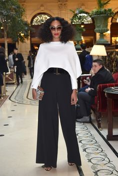 Solange's Best Street Style Looks from Paris Fashion Week