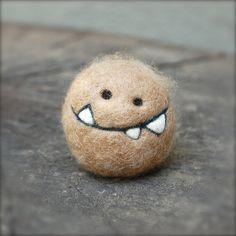 Cashmere needle felted potato monster by asherjasper on Flickr