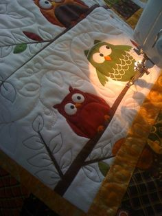One Stitch Off: Quilting the Owl Towel
