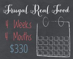 Bi-weekly real food menus, filled with nourishing, organic and wholesome food, all for under $330 a month.