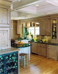 Handmade French Country Kitchen Remodel Of Wood, Stone & Metal by Cabinets & Des. - Handmade French Country Kitchen Remodel Of Wood, Stone & Metal by Cabinets & Design Iron LLC Country Kitchen Cabinets, Rustic Kitchen, Kitchen Decor, Kitchen Ideas, Kitchen Planning, 70s Kitchen, Kitchen Island, Open Kitchen, Kitchen Designs