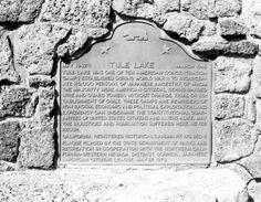 Tule Lake Memorial (plaque erected in 1979)