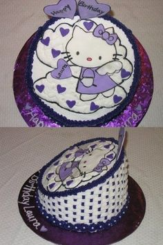purple hello kitty by teesue