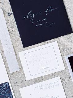Minimalist Modern Wedding Inspiration - Kelsey Malie Calligraphy