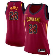 7dcc887e0b7 LeBron James Cleveland Cavaliers Nike Women s Swingman Jersey Wine - Icon  Edition
