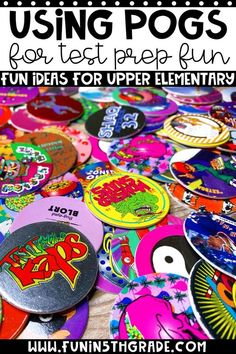 Using pogs and other engaging activities will help you and your students enjoy the test prep season so much more! These tips will help make test prep fun! When the est finally comes, the students will be less overwhelmed and more confident in their abilities. Review doesn't have to be boring practice of worksheets.