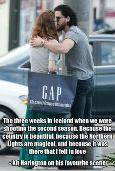 #GoT Aww, Forever Ygritte & Jon Snow | Rose Leslie and Kit Harington #YouKnowNothingJonSnow | Oh, He knows something ;)