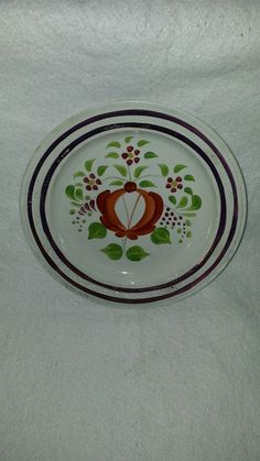 "Staffordshire Woods Rose Lusterware Dinner Plate 10"" Ca 1835"