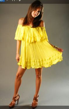 Gypsy inspired summer baby doll dress
