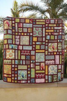 Parisville quilt, modern rose garden, carolina patchworks