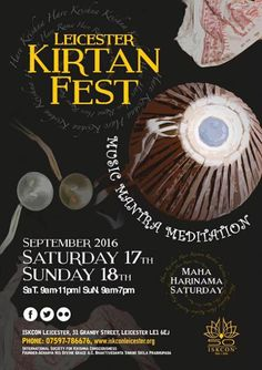 Dandavats | Kirtan Fest – 24 hours of kirtan in the City of Leicester,…
