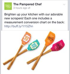 The cutest spatulas out there - stressed is desserts spelled backwards  www.pamperedchef.biz/randithompson