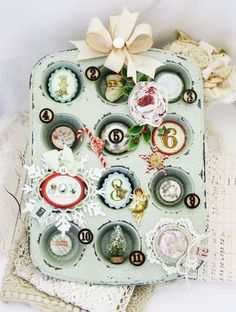 Melissa Phillips Christmas leftovers...Could do for general use with sewing notions for sewing room.