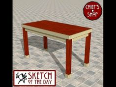 ▶ Chief's Shop Sketch of the Day: Kitchen Bar Table - YouTube