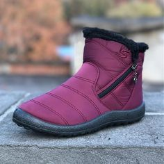 cb1e3d7fde1e Women Casual Keep Warm Zipper Ankle Snow Boots