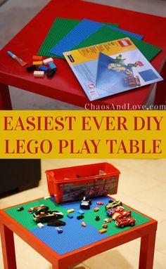 Easiest Ever DIY Lego Play Table Craft Idea