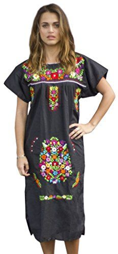 Liliana Cruz Embroidered Mexican Peasant Dress (Black size Medium) Liliana Cruz http://www.amazon.com/dp/B012JUESV0/ref=cm_sw_r_pi_dp_GJoTwb1X8YPE5