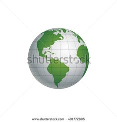 Globe Earth Icon. America - stock vector