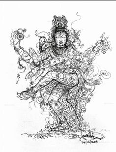 Outline Drawings, Pencil Art Drawings, Art Sketches, Shiva Art, Hindu Art, Indian Gods, Indian Art, Hindu Deities, Hinduism