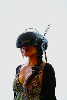 Virtual Reality helmet for the lady