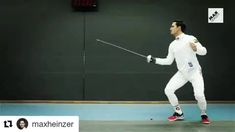 Piercing an orange while lunging #fencing