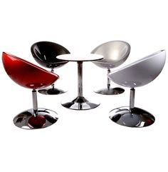 Home Deco - Chair Red/Chrome Steel- Kokoon Design, High Gloss, Home Furniture, Household, Chrome, Steel, Chair, Red, Home Decor