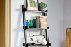 7 basic (in a good way) book-storage solutions. Build a ladder shelf: Another great gift idea that'll travel well into college.