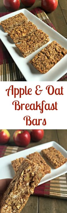 apple and oat breakfast bars