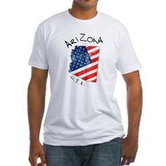 Grungy American flag inside Arizona map T-Shirt> Grungy American flag inside Arizona state map> Victory Ink Tshirts and Gifts