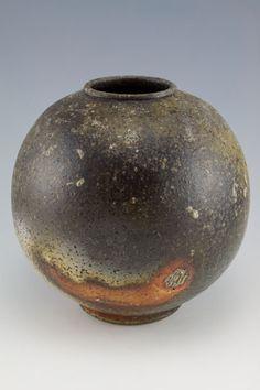 Simon Van Der Ven | Round vase CS30 (6.5 x 6.5), wood-fired, granite-infused, stoneware.