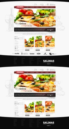 Pizza Business Web Design by vasiligfx.deviantart.com on @deviantART