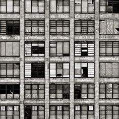 """'Philadelphia Abandoned"""", 2008 by Michael Penn. Luigi Snozzi, Materials And Structures, Different Points Of View, Abstract City, Facade Architecture, Built Environment, Brutalist, Under Construction, Abandoned"""