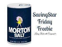 FREE Morton Table Salt SavingStar Offer! - http://www.livingrichwithcoupons.com/2014/06/free-morton-table-salt-savingstar-offer-done.html