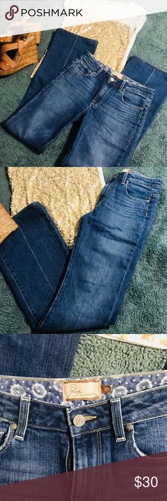 🖤New Paige jeans🖤premium denim🖤 Worn only once in excellent condition.  Premium denim. Really cute jeans Paige Jeans Jeans Boot Cut