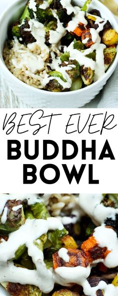 This is the BEST EVER Buddha Bowl. It's a light and healthy lunch or dinner packed with nutrients and delicious flavor. Vegan!